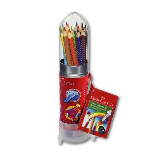 """Акварельные карандаши FABER-CASTELL Grip 2001 """"Ракета"""" трехгранные, 15 цв, упаковка-ракета"""