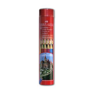 """Цветные карандаши FABER-CASTELL Colour Pencils """"Замок"""" шестигранные, 12 цветов"""