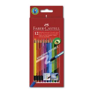 Цветные карандаши FABER-CASTELL Colour Pencils  шестигранные, 12 цветов, с ластиками