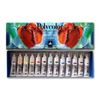 Набор художественных акриловых красок Polycolor MAIMERI для рисования и декора, 13 цветов по 20 мл