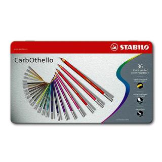 Цветная пастель CarbOthello STABILO для рисования, в карандашах, 36 цветов в наборе