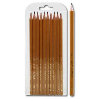 Набор чернографитных карандашей KOH-I-NOOR, 10 шт. твердость 3B 3H 2B 2H B-2шт, HB-2шт, H-2шт