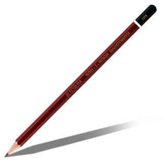 Набор простых карандашей Koh-I-Noor KIN «Forum», 6 шт, твердость НВ-2шт, B, H, 2H, 2B