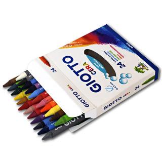 Восковые карандаши GIOTTO Cera Ast FILA для детского творчества и рисования, 24 цвета