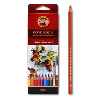 """Акварельные цветные карандаши Koh-I-Noor Mondeluz """"Натюрморт"""", 18 цветов"""
