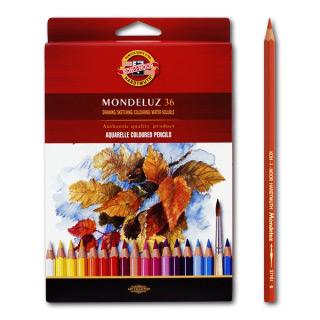 """Акварельные цветные карандаши Koh-I-Noor Mondeluz """"Натюрморт"""", 36 цветов"""