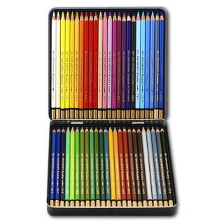 Акварельные цветные карандаши Koh-I-Noor Mondeluz 48 цветов, металлический пенал
