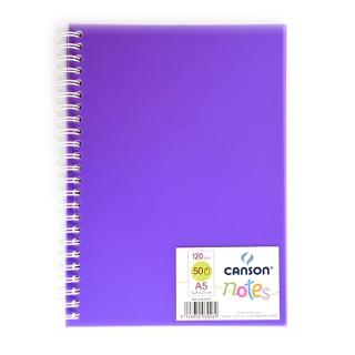 Альбом для зарисовок CANSON Notes, 120 г/м2, формат А5, 50 листов, цвета в ассортименте