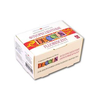 Флуоресцентные акриловые краски Decola НЕВСКАЯ ПАЛИТРА, набор 6 цветов по 50 мл
