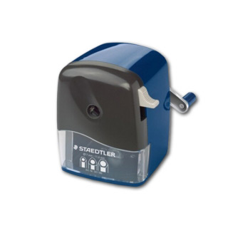Настольная механическая точилка STAEDTLER для простых и цв. карандашей диам. от 7 до 11,6 мм