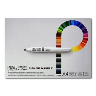 Альбом для маркеров «Pigment Marker» Winsor&Newton, 75 г/кв.м, А4 (210×297 мм), 50 листов