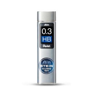 Грифели для автоматических карандашей Pentel Ain Stein 15 шт 0.3 мм жесткость HB