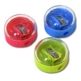 Круглая точилка для карандашей KUM с запирающей крышкой-контейнером