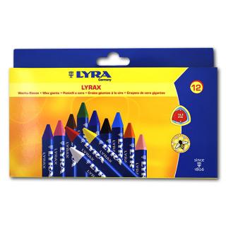 Набор восковых мелков Wax-Giants LYRA для детей, 12 цветов