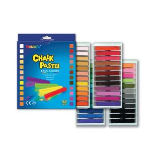 Пастель сухая меловая для рисования и детского творчества MUNGYO CHALK 48 цветов