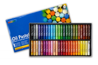 Масляная пастель MUNGYO Oil Pastel художественная, круглая, набор из 48 цветов