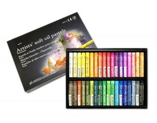 Масляная пастель MUNGYO Gallery Soft oil мягкая 36 цветов для профессионалов
