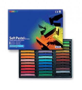 Пастель художественная мягкая для детей и взрослых MUNGYO Soft Pastel 36 цветов