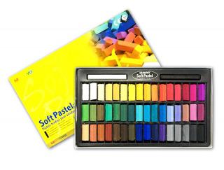 Пастель мягкая для детей и взрослых MUNGYO Soft Pastel Mini 1/2 длины, 48 цветов