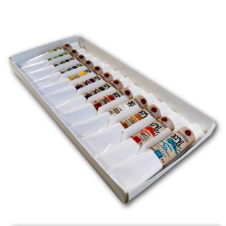 Полуглянцевые художественные акриловые краски «Акрил-Арт» Таир в наборе, 12 цветов по 20 мл