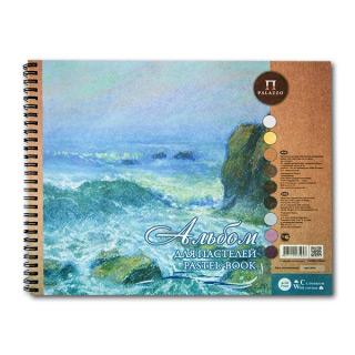 """Альбом для пастелей """"Aquamarinе"""" Лилия Холдинг, цветная бумага, 160 г/кв.м, 24х30 см, 54 л"""