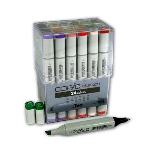 Набор маркеров для скетчей Copic Sketch в контейнере 24 цвета