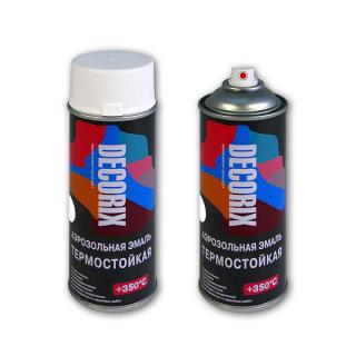 Аэрозольная краска термостойкая DECORIX +350°С RAL 9003 Белая