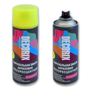Аэрозольная краска флуоресцентная DECORIX 520 мл
