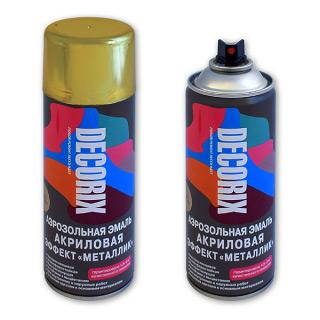 Аэрозольная краска с эффектом металлик DECORIX 520 мл