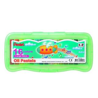 Пастель масляная большая в пластиковом боксе 16 цветов Pentel