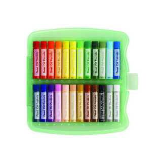 Пастель масляная большая Pentel в пластиковом боксе 24 цвета