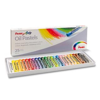 Мелки для рисования - пастель масляная Pentel в наборе 25 цветов