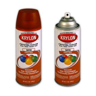 Аэрозольный художественный лак цветной KRYLON Acrylic Crystal Color