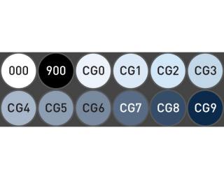 "Набор маркеров Stylefile Classic ""Холодный серый"" 12 шт"