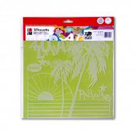 Трафарет-силуэт Marabu Aloha Paradise 30х30 см для ткани, стекла, стен, скрапбукинга и др.