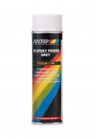 Грунт эпоксидный MOTiP EPOXY PRIMER PREMIUM для металла (в том числе стали и алюминия), дерева, пластика, цвет серый, аэрозоль 650 мл