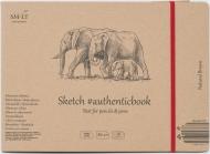 Альбом SM-LT Art Authentic Brown 135г/м2 24.5х18.1см 28листов с закладкой-застежкой книжный переплет (сшитый)