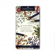 Цветные акварельные карандаши FABER-CASTELL Art Grip Aquarelle трехгранные, 12 цветов