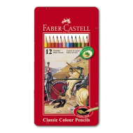 "Цветные карандаши FABER-CASTELL Colour Pencils ""Рыцарь"" 12 цв. с золотым"