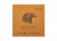 Альбом SM-LT Art Layflat Kraft 90г/м2 14х14см 48л крафт бумага сшитый