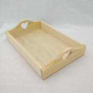 Заготовка Timberlicious деревянная для декорирования поднос с сердцем 20х30х7 см