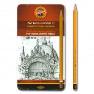 """Профессиональные чернографитные карандаши KOH-I-NOOR """"Art"""", набор 12шт, тв.  8В-2Н"""