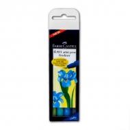 Набор капиллярных ручек Faber-Castell Pitt artist pens Fineliner, 4 шт., сине-зеленые цвета