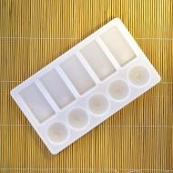 Прямоугольная пластиковая палитра Сонет НЕВСКАЯ ПАЛИТРА для смешивания красок, 10 яч.