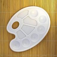 Круглая пластиковая палитра Сонет НЕВСКАЯ ПАЛИТРА для смешивания красок, 10 ячеек