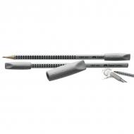 Ластик-колпачок Faber-Castell Grip 2001, 2 шт., светло-серый
