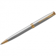 """Ручка шариковая Parker """"Sonnet Stainless Steel GT"""" черная, 1,0мм, поворот., подар. уп."""