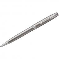 """Ручка шариковая Parker """"Sonnet Stainless Steel CT"""" черная, 1,0мм, поворот., подар. уп."""