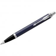 """Ручка шариковая Parker """"IM Matte Blue CT"""" синяя, 1,0мм, кнопочн., подар. уп."""