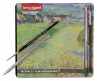 Набор акварельных карандашей Thyssen 'Вид на Вессенот близ Овера' Ван Гог 24 цвета в металлической упаковке